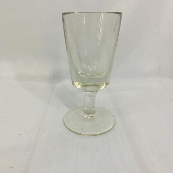 HEAVY Thick Wall Glass Goblet